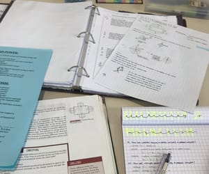 library, notes, and study image