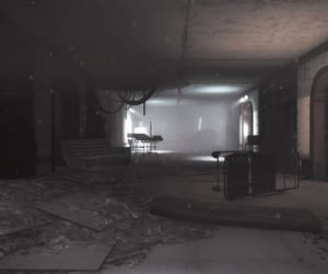 abandoned, particles, and dark image