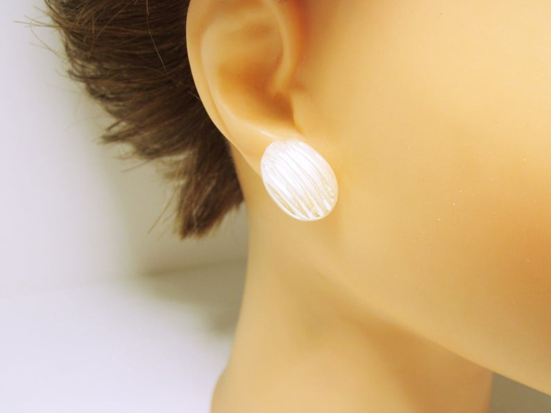 earrings, studs, and white image