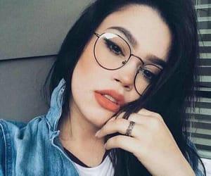 tumblr, natural make up, and glasses image