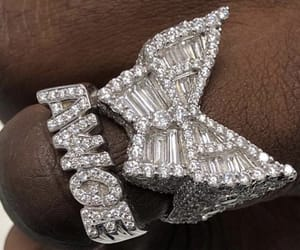 butterfly, diamonds, and ghetto image