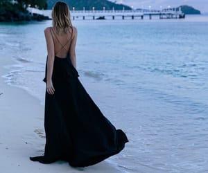 beach, dress, and ocean image