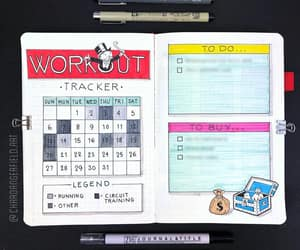 exercise, bujo, and fitness image