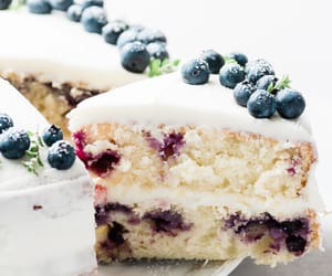 blueberry, cake, and desserts image