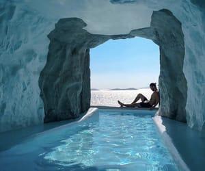 travel, blue, and mykonos image