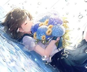anime and rain image