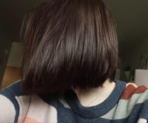 bob, brunette, and hair image