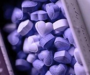 hearts, lavender, and pills image