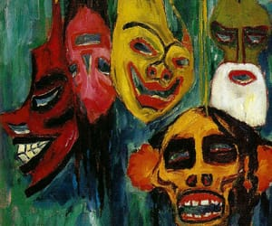 art, colorful, and mask image