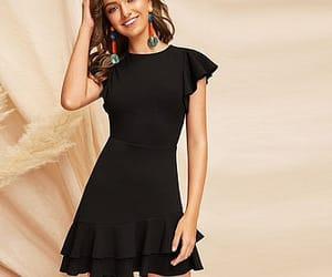 black dress, mini, and dress image