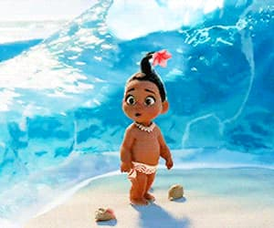 animation, sea, and baby image