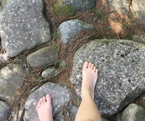 bare feet, finland, and path image