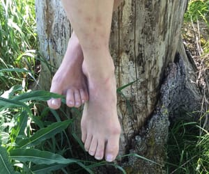 bare feet, finland, and summer image