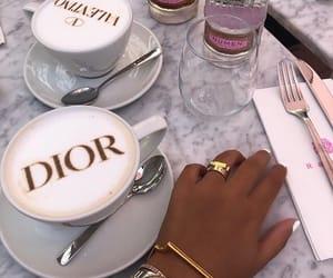 dior, coffee, and luxury image