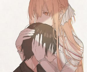 anime, anime couple, and asuna image