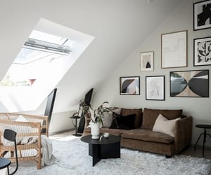 bedroom, home decor, and attic apartment image