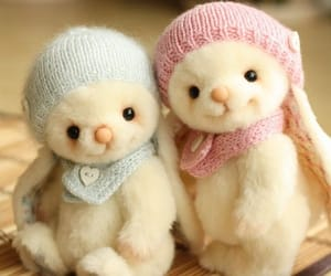 bunnies, cutie, and kawaii image