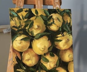 art, lemon, and summer image