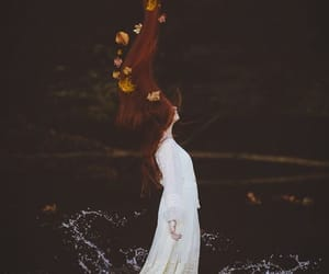 autumn, girl, and vintage image
