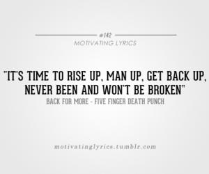 Lyrics and five finger death punch image