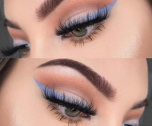 blue, girly, and eyebrows image
