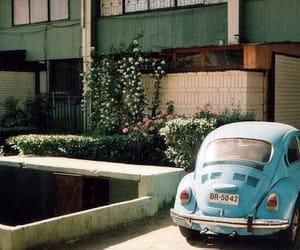 vintage, blue, and car image