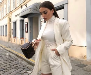 louis vuitton white, blanc brunette hair, and goal goals life image