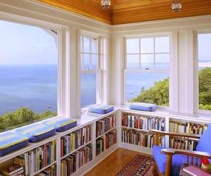 books, cozy, and decor image