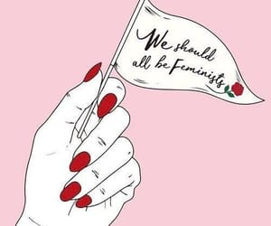 feminist, pink, and girl power image