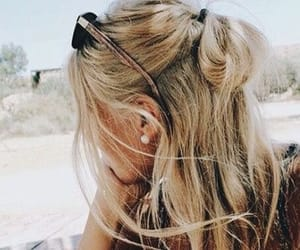 hair, beach, and fashion image