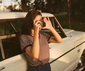 girl, photo, and car image