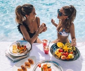 food, summer, and friends image
