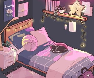 wallpaper, bedroom, and drawing image