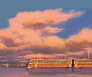 anime, train, and wallpaper image