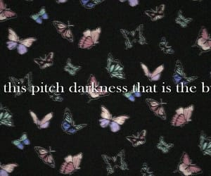 butterflies, girl, and quote image