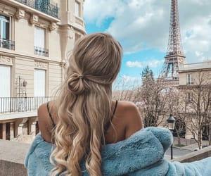 hair, girl, and paris image