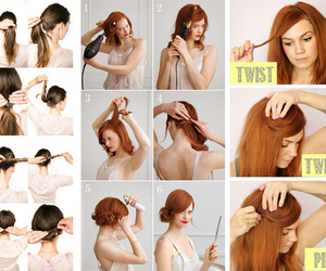 diy, hair, and hair styles image