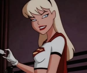 cartoon, aesthetic, and Supergirl image