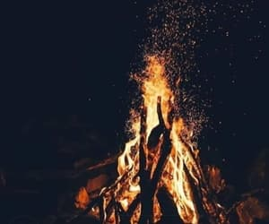 dark, fire, and wallpaper image