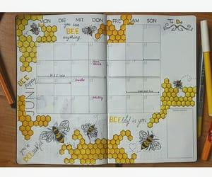 bee, calendar, and design image