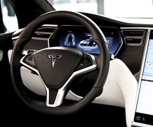 car, luxury, and Tesla image