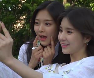 kim hyunjin, jeon heejin, and kpop image