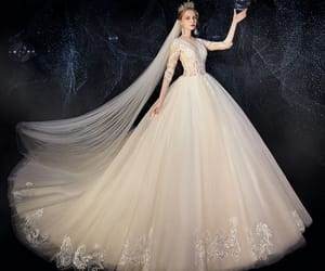 ball gown, charming, and sequins image
