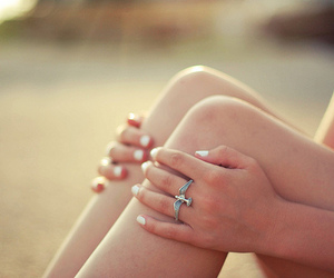 ring, girl, and bird image