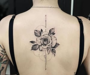 back, black, and flowers image