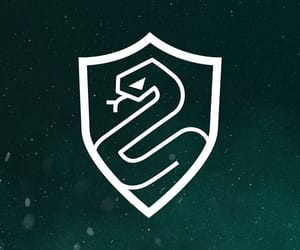 background, green, and slytherin image
