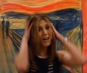 art, edvard munch, and Jennifer Aniston image