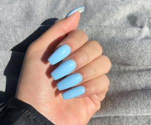 acrylics, blue, and nails image