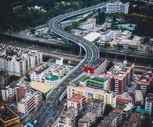aerial photography, city, and shenzhen image