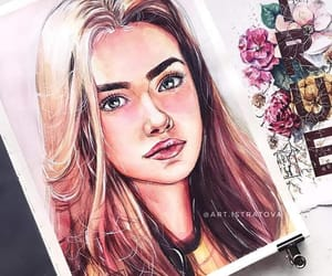 art, beauty, and draw image